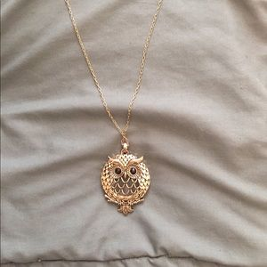 Owl pendent necklace - magnifying glass backing